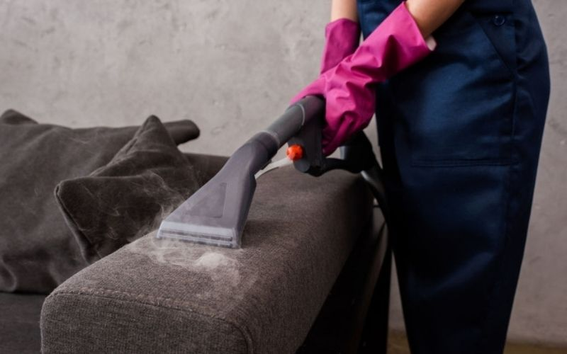 Removes The Stains on Upholstery By Steam Cleaning